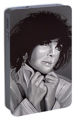 Elizabeth Taylor Portable Battery Charger by Paul Meijering