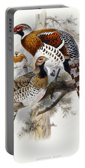 Elliot's Pheasant Portable Battery Charger by Joseph Wolf