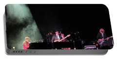 Elton And Band Portable Battery Charger by Aaron Martens