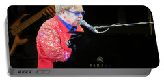 Elton John Live Portable Battery Charger by Aaron Martens