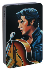 Elvis Presley 3 Painting Portable Battery Charger by Paul Meijering