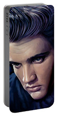 Elvis Presley Artwork 2 Portable Battery Charger by Sheraz A