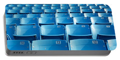 Empty Blue Seats In A Stadium, Soldier Portable Battery Charger by Panoramic Images