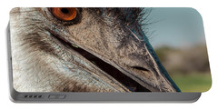 Emu Closeup  Portable Battery Charger by Robert Frederick