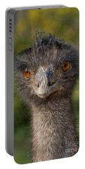 Emu Portrait Portable Battery Charger by Anthony Mercieca