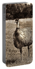 Emu-sepia Portable Battery Charger by Douglas Barnard