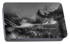 Enchanted Valley In Black And White Portable Battery Charger by Bill Gallagher