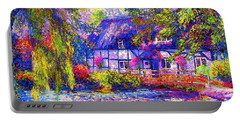 English Cottage Portable Battery Charger by Jane Small