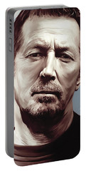 Eric Clapton Artwork Portable Battery Charger by Sheraz A
