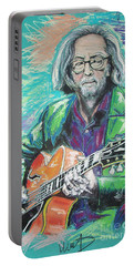 Eric Clapton Portable Battery Charger by Melanie D