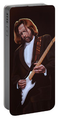 Eric Clapton Painting Portable Battery Charger by Paul Meijering