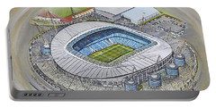 Etihad Stadium - Manchester City Portable Battery Charger by D J Rogers