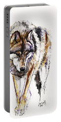 European Wolf Portable Battery Charger by Mark Adlington