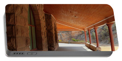 Portable Battery Charger featuring the photograph Evans Porch by Bill Gabbert