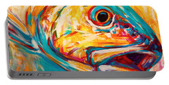 Expressionist Redfish Portable Battery Charger by Savlen Art