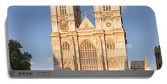 Facade Of A Cathedral, Westminster Portable Battery Charger by Panoramic Images