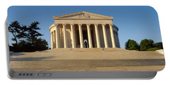 Facade Of A Memorial, Jefferson Portable Battery Charger by Panoramic Images