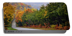 Fall On Fox Hollow Road Portable Battery Charger by Cricket Hackmann