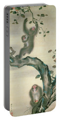 Family Of Monkeys In A Tree Portable Battery Charger by Japanese School