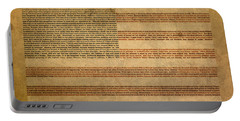 Famous Patriotic Quotes American Flag Word Art Portable Battery Charger by Design Turnpike
