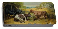 Farmyard Scene Portable Battery Charger by John Frederick Herring Snr