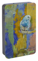 Feng Shui Parakeets Portable Battery Charger by Michael Creese