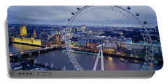 Ferris Wheel In A City, Millennium Portable Battery Charger by Panoramic Images