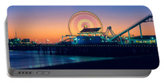 Ferris Wheel On The Pier, Santa Monica Portable Battery Charger by Panoramic Images