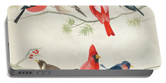 Festive Birds I Portable Battery Charger by Danhui Nai