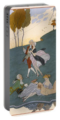 Fetes Galantes Portable Battery Charger by Georges Barbier
