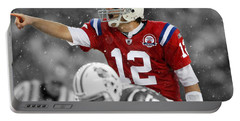 Field General Tom Brady  Portable Battery Charger by Brian Reaves