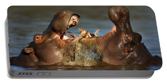Fighting Hippo's Portable Battery Charger by Johan Swanepoel