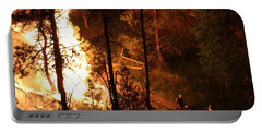 Portable Battery Charger featuring the photograph Firefighters Burn Out On The White Draw Fire by Bill Gabbert