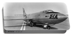 Portable Battery Charger featuring the photograph First Supersonic Aircraft, Bell X-1 by Science Source