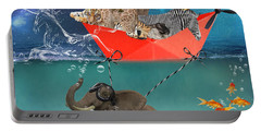 Floating Zoo Portable Battery Charger by Juli Scalzi