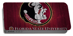 Florida State University Barn Door Portable Battery Charger by Dan Sproul