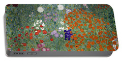 Flower Garden Portable Battery Charger by Gustav Klimt