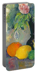 Flowers And Fruits Portable Battery Charger by Paul Cezanne