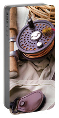 Fly Fishing Still Life Portable Battery Charger by Edward Fielding