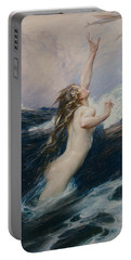 Flying Fish Portable Battery Charger by Herbert James Draper