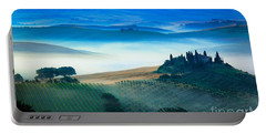 Fog In Tuscan Valley Portable Battery Charger by Inge Johnsson