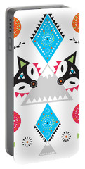 Folk Fox Portable Battery Charger by Susan Claire
