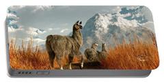 Follow The Llama Portable Battery Charger by Daniel Eskridge