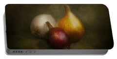 Food - Onions - Onions  Portable Battery Charger by Mike Savad