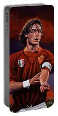 Francesco Totti Portable Battery Charger by Paul Meijering