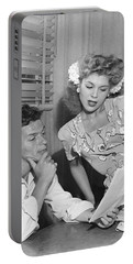 Frank Sinatra & Eileen Barton Portable Battery Charger by Underwood Archives