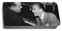 Frank Sinatra At Stork Club Portable Battery Charger by Underwood Archives
