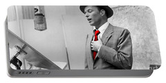 Frank Sinatra Painting Portable Battery Charger by Marvin Blaine