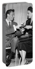 Frank Sinatra Signs For Fan Portable Battery Charger by Underwood Archives