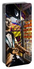 Frank Sinatra Statue, Las Vegas Portable Battery Charger by Panoramic Images